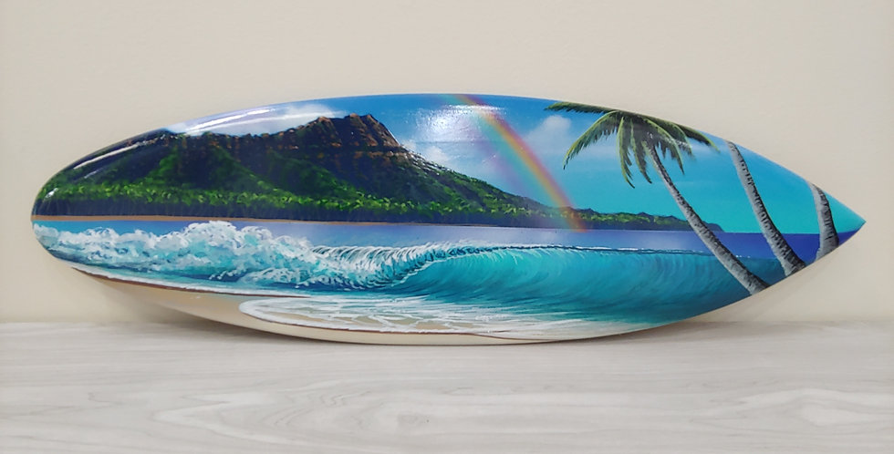 """Rainbow Over Diamond Head"" Spray Painting 22"""