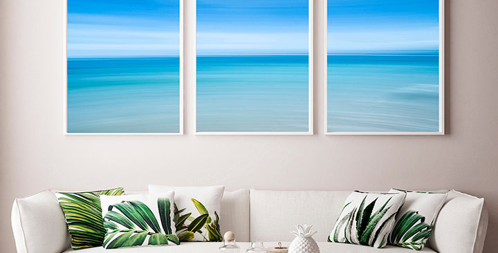 """Blue Beach"" Triptych"