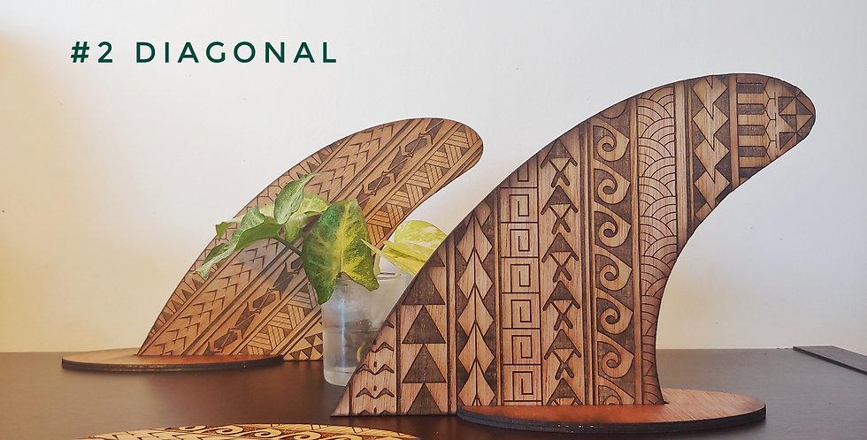 Hawaiian Tribal Surfboard Fin Art