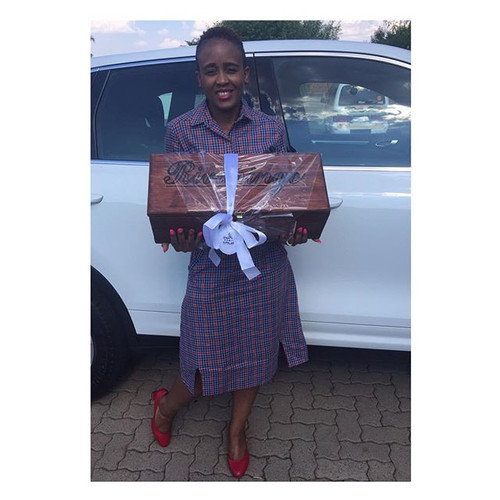 Our happy Client with her personalised W