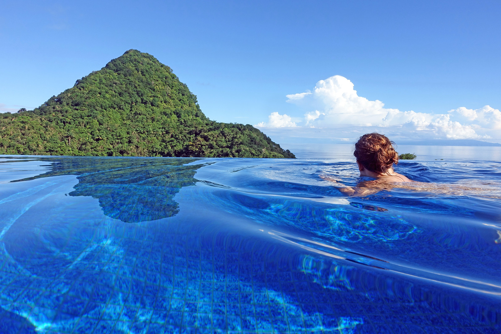 Second common pool, overlooking Morne Fou