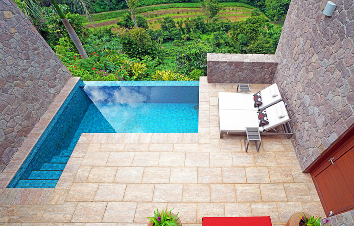 Private pool, penthouse suite