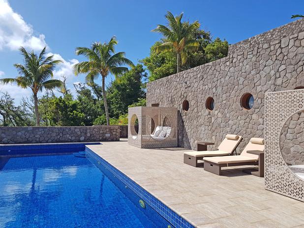 Pool lounging area