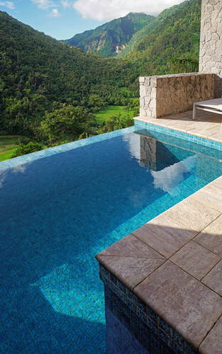Private pool overlooking valley