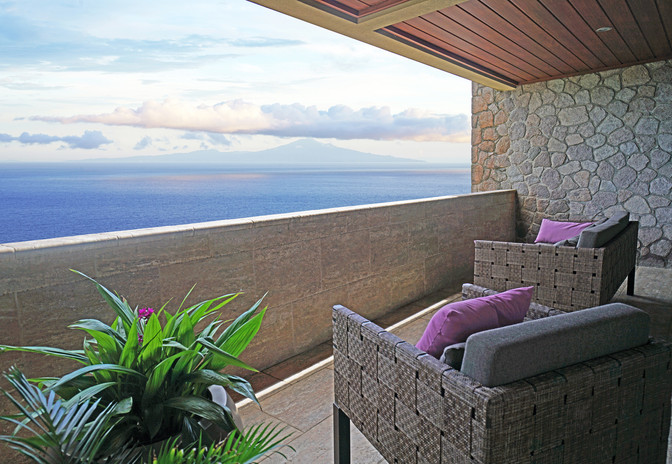 Private verandah overlooking Martinique