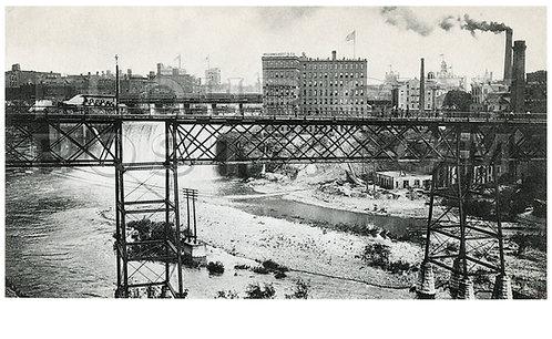 Platt Street (Pont de Rennes) Bridge, High Falls, Rochester, N.Y