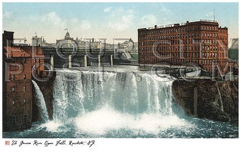 Genesee River, Upper Falls, New York Central R.R. Bridge, Rochester, N.Y.