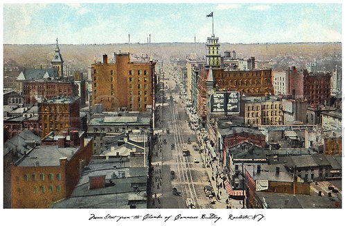 Main Street looking West from the Chamber of Commerce Building, Rochester, N.Y.
