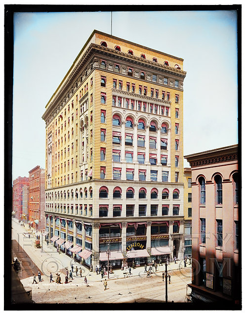 Granite Building, Rochester, N.Y. (COLORIZED)