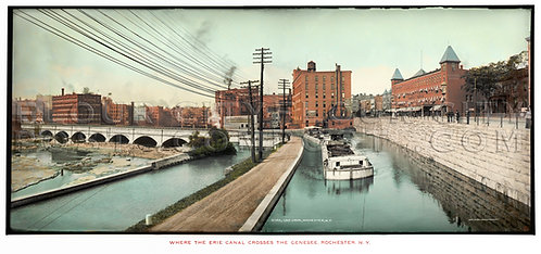 The Erie Canal, Rochester, N.Y. (COLORIZED)
