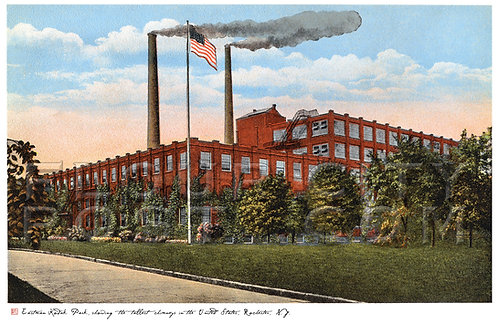 Kodak Park Plant, Showing the Tallest Chimneys in the U.S., Rochester, N.Y.