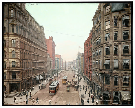 State Street (looking North), Rochester, N.Y (COLORIZED)
