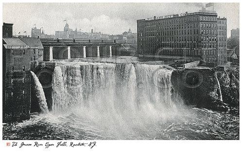 Genesee River, Upper Falls, New York Central R.R. Bridge, Rochester, N.Y