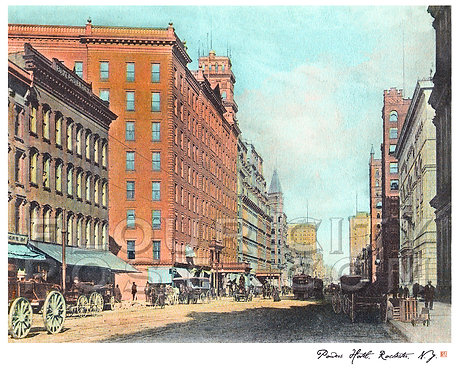 Powers Hotel, Rochester, N.Y. (COLORIZED)