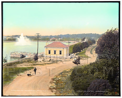 Highland Park Reservoir,  Rochester, N.Y. (COLORZED)