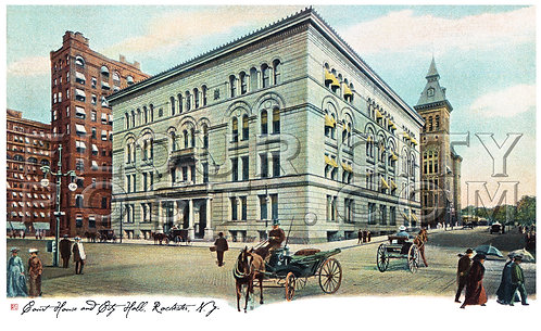 Court House and (Old) City Hall, Rochester, N.Y.