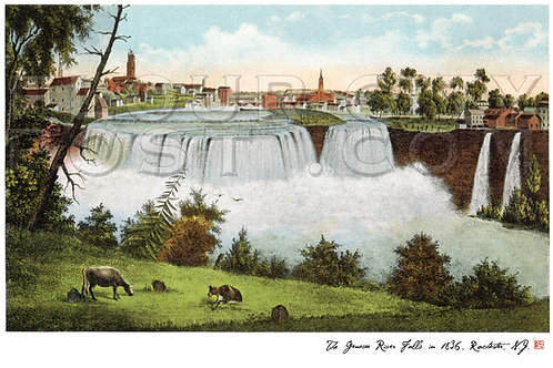 The Genesee River (High) Falls in 1836, Rochester, N.Y.