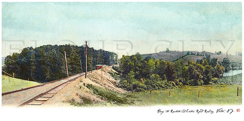 Along the Rochester & Eastern Rapid Railway, Victor, N.Y. (COLORIZED)