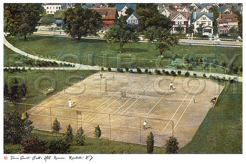 View of the Tennis Courts from the Cobb's Hill Reservoir, Rochester, N.Y.