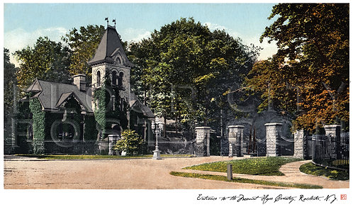 Entrance to the Mount Hope Cemetery, Rochester, N.Y.