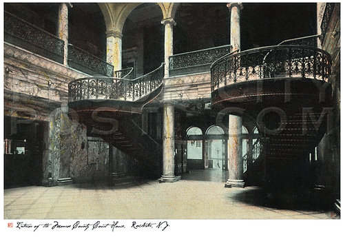 Interior of The Monroe County Court House, Rochester, N.Y.