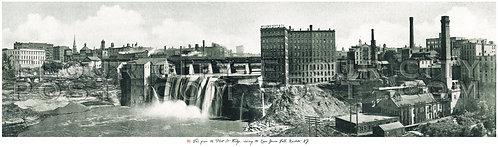 View from the Platt Street Bridge, Upper Genesee Falls, Rochester, N.Y