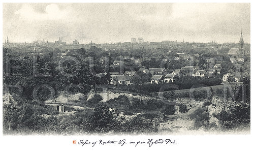 Skyline of Rochester, N.Y. seen from Highland Park