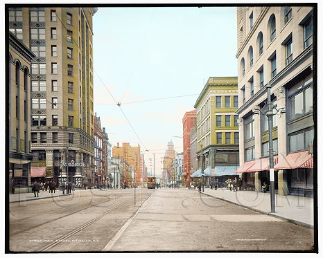 E. Main Street (looking West), Rochester, N.Y (COLORIZED)