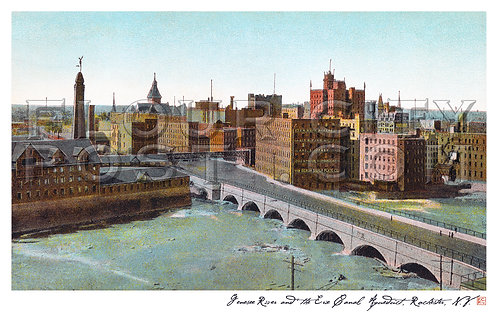 Genesee River and the Erie Canal Aqueduct, Rochester, N.Y.