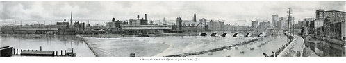 Panoramic View of the Court St. Bridge, Over the Genesee River, Rochester, N.Y.