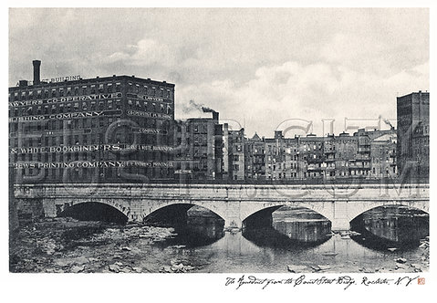 The Aqueduct from the Court Street Bridge, Rochester, N.Y.
