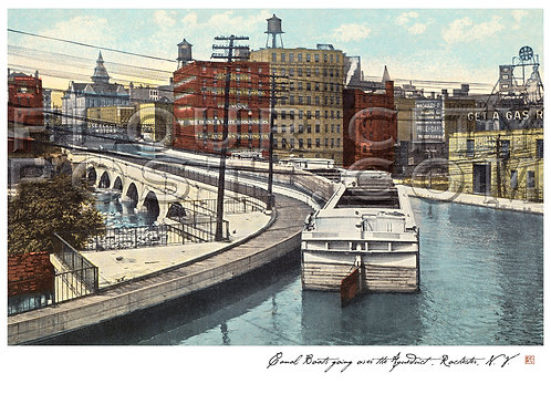 Canal Boats going over (the Erie Canal) Aqueduct, Rochester, N.Y.