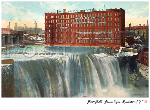 First (High) Falls, Genesee River, Rochester, N.Y.