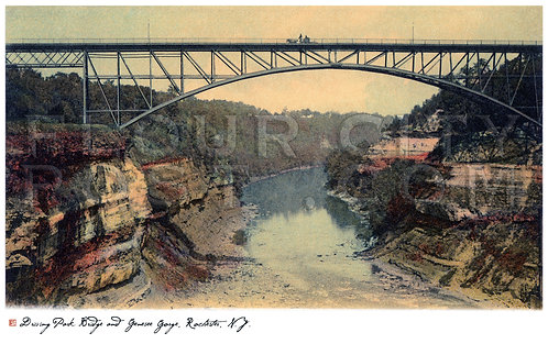 Driving Park Bridge and Genesee Gorge, Rochester, N.Y.
