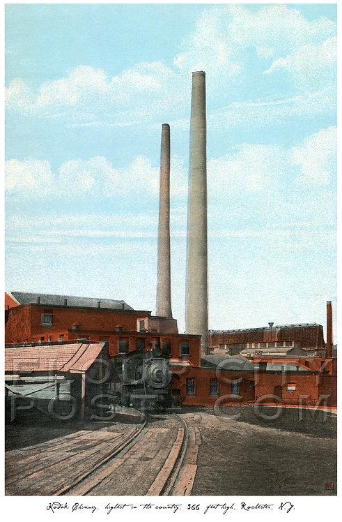 Kodak Chimney, Highest in the Country, 366 feet high, Rochester, N.Y.