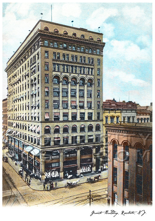 The Granite Building, Rochester, N.Y. (COLORIZED)