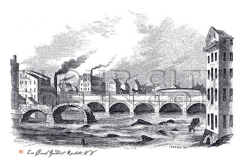 The first and second Erie Canal Aqueducts, Rochester, N.Y.