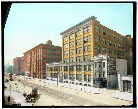 Eastman Kodak Company, State St Factory & Main Office, Rochester, NY (Colorized)