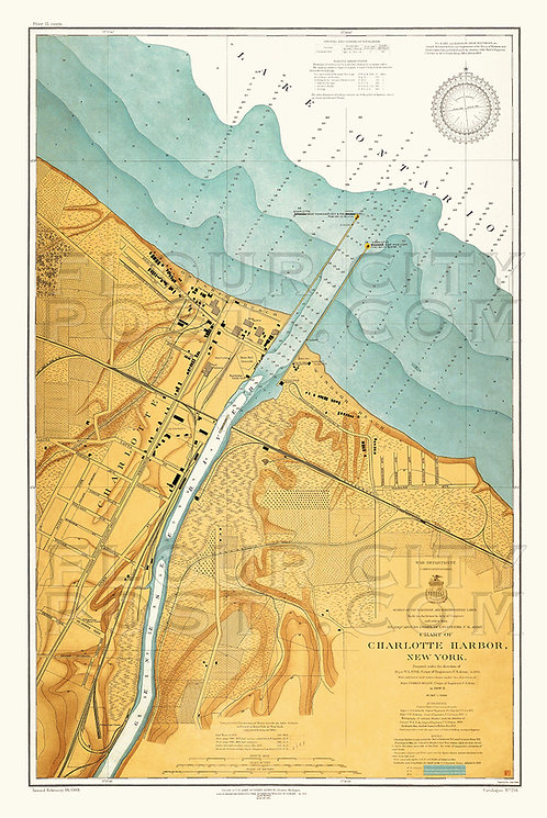 1909 Map of Charlotte Harbor, Rochester, N.Y.