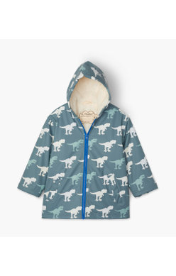 Hatley T-Rex Colour Changing jacket sherpa lined