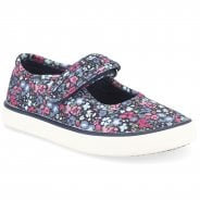 Startrite Blossom Navy Canvas