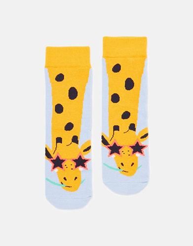 Joules Blue Giraffe Socks