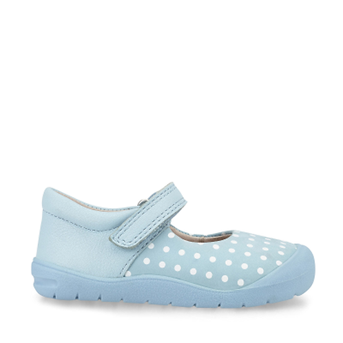 Startrite Joy Pale Blue Polka Dot Nubuck