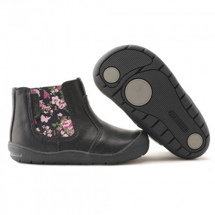Startrite First Chelsea Navy floral boot