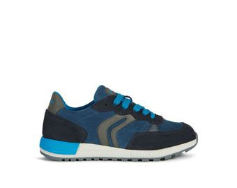 Geox Alben blue lace up trainer