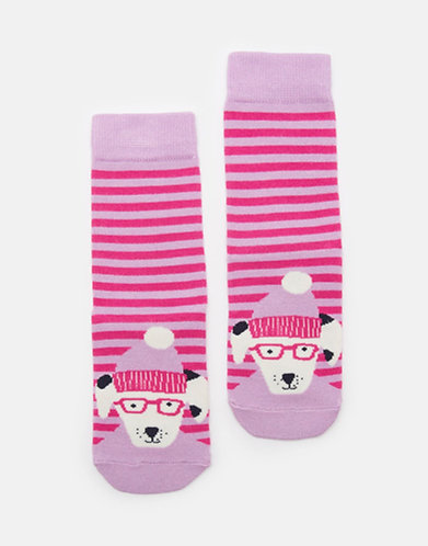 Joules Pink Dalmation Socks