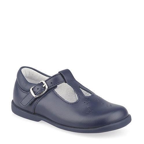 Start-Rite Swirl Navy T-bar Shoe