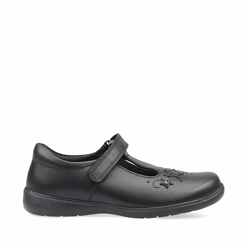 Startrite Star Jump black leather school shoe