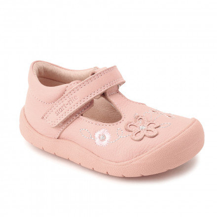 Start-rite First Mia in Pink Leather First Walking Shoes