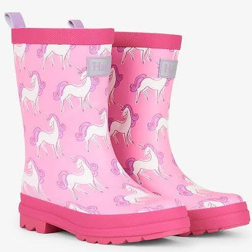 Hatley Unicorn Doodles Pink Welly Rain Boot